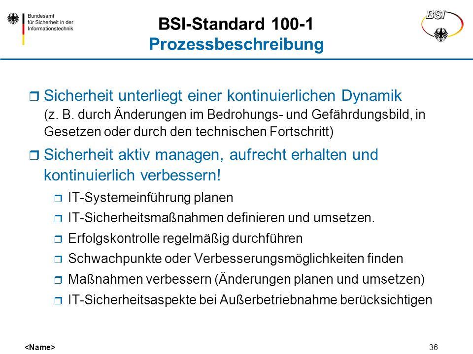 BSI-Standard 100-1 Prozessbeschreibung