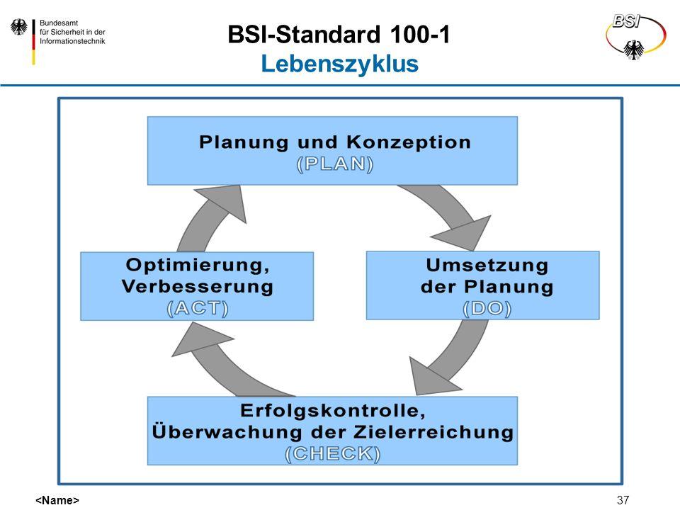 BSI-Standard 100-1 Lebenszyklus