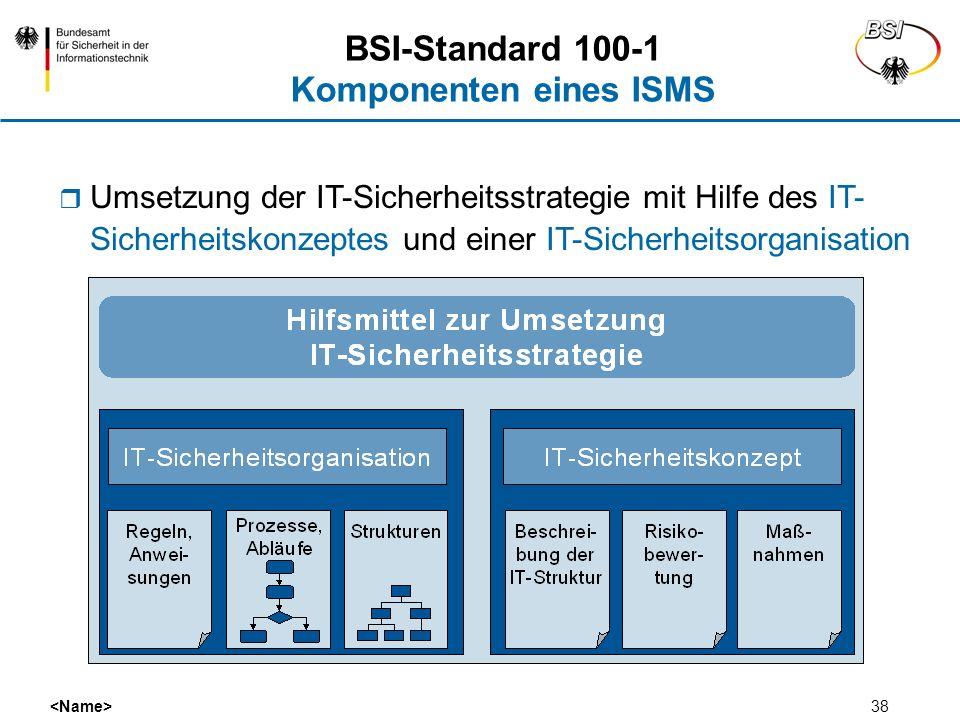 BSI-Standard 100-1 Komponenten eines ISMS