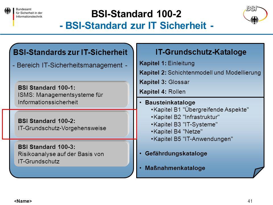 BSI-Standard 100-2 - BSI-Standard zur IT Sicherheit -