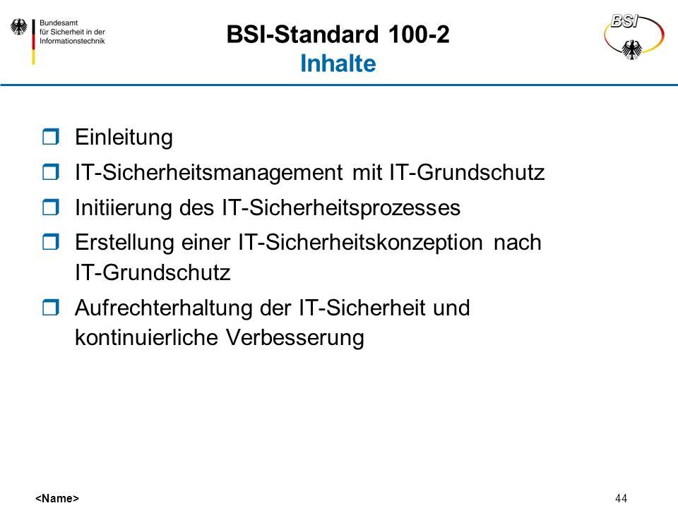 BSI-Standard 100-2 Inhalte