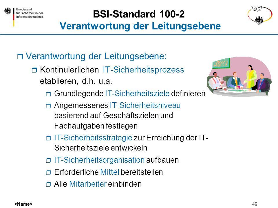 BSI-Standard 100-2 Verantwortung der Leitungsebene