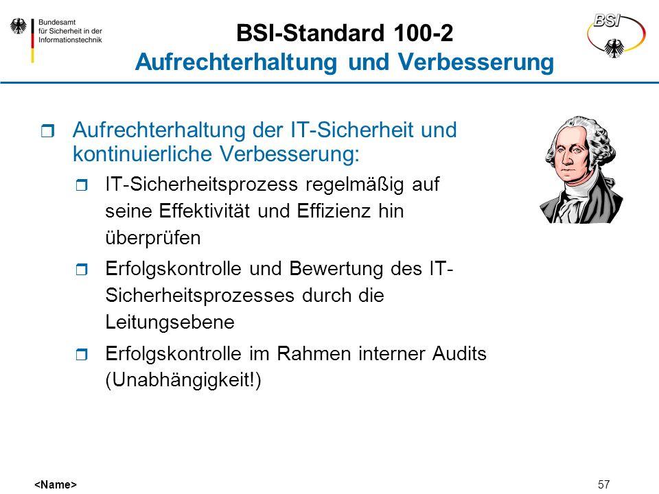 BSI-Standard 100-2 Aufrechterhaltung und Verbesserung