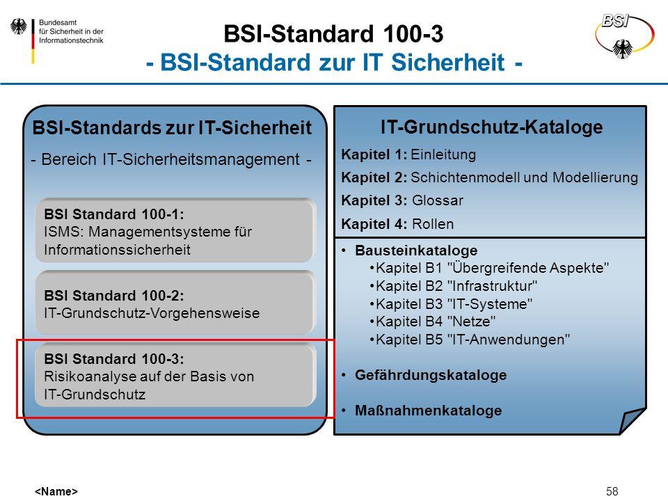 BSI-Standard 100-3 - BSI-Standard zur IT Sicherheit -