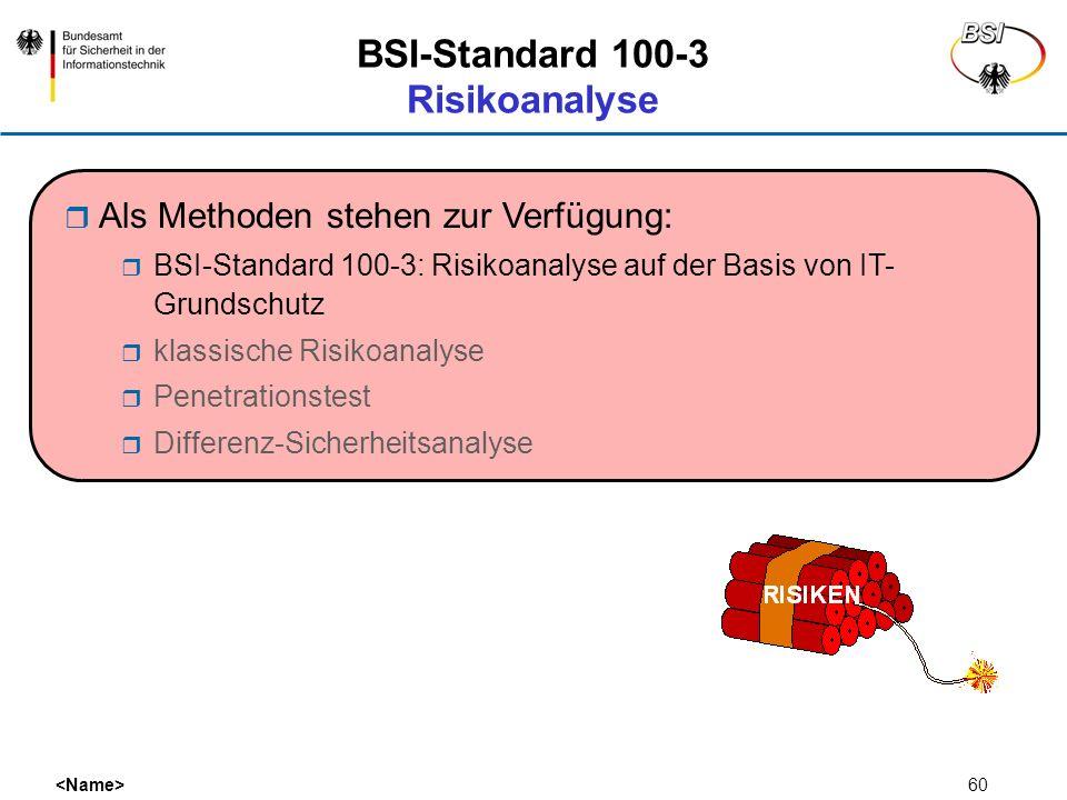 BSI-Standard 100-3 Risikoanalyse