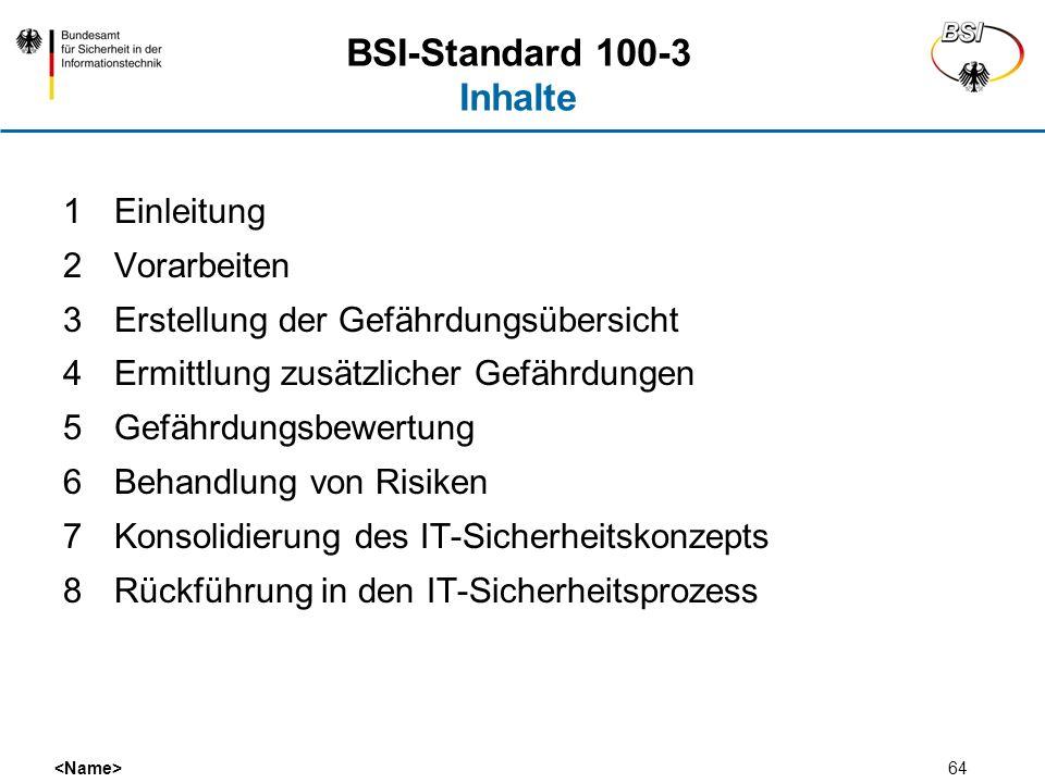 BSI-Standard 100-3 Inhalte