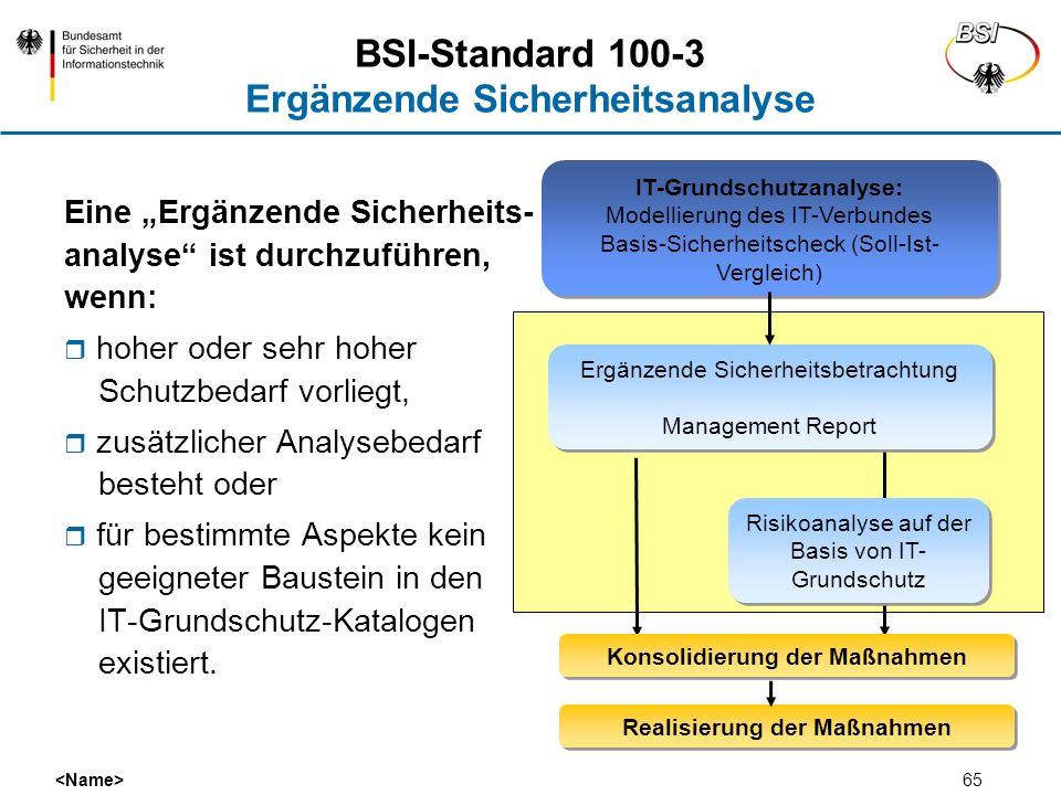 BSI-Standard 100-3 Ergänzende Sicherheitsanalyse