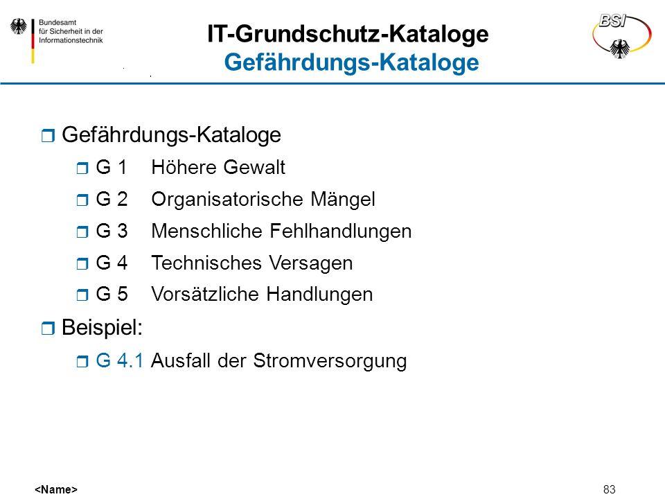 IT-Grundschutz-Kataloge Gefährdungs-Kataloge