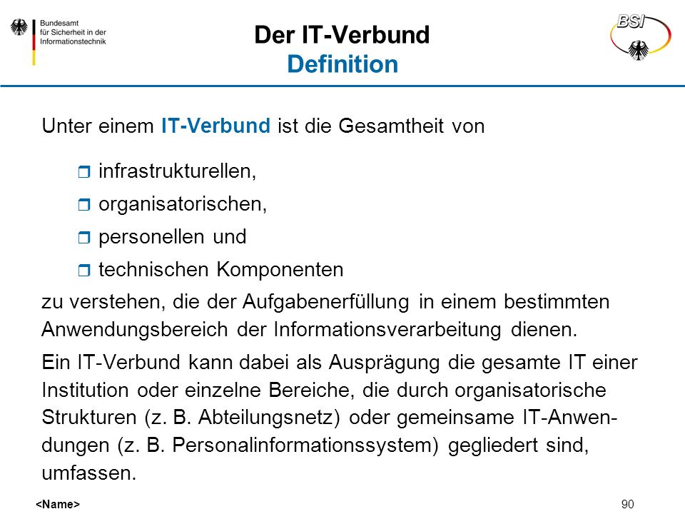 Der IT-Verbund Definition