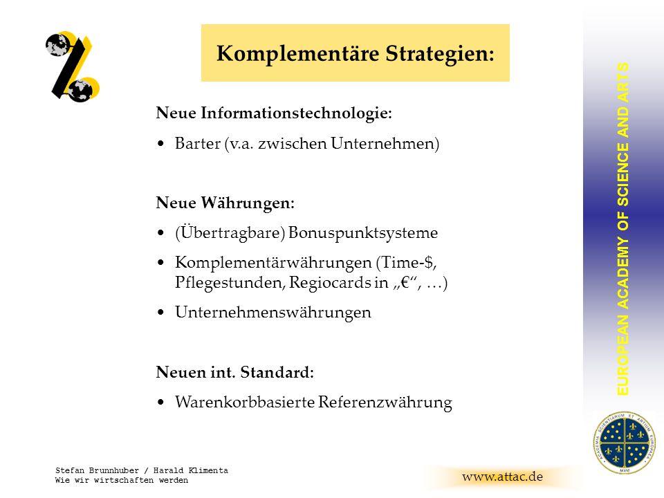 Komplementäre Strategien: