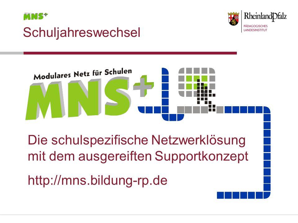 Schuljahreswechsel Die schulspezifische Netzwerklösung.