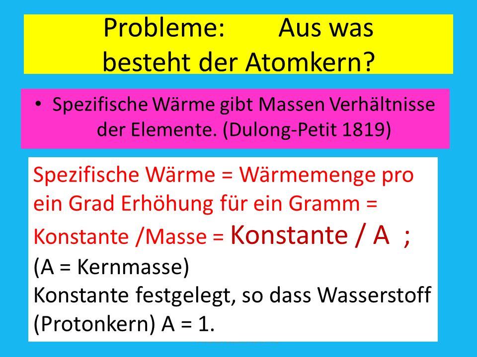 Probleme: Aus was besteht der Atomkern