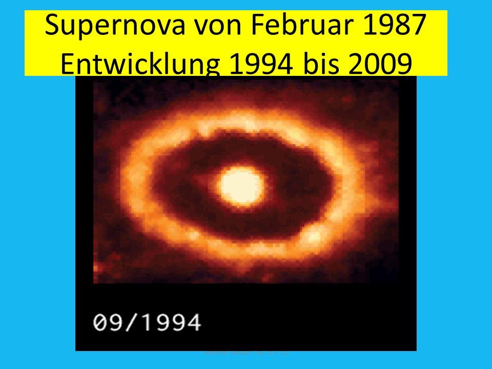 Supernova von Februar 1987 Entwicklung 1994 bis 2009