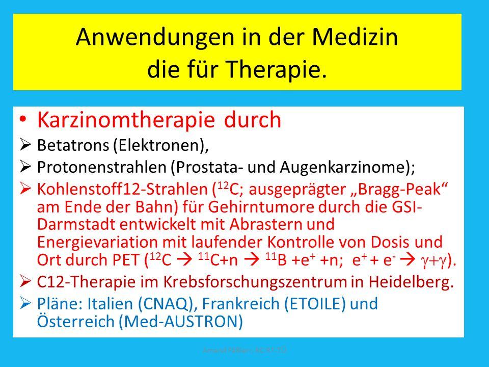 Anwendungen in der Medizin die für Therapie.
