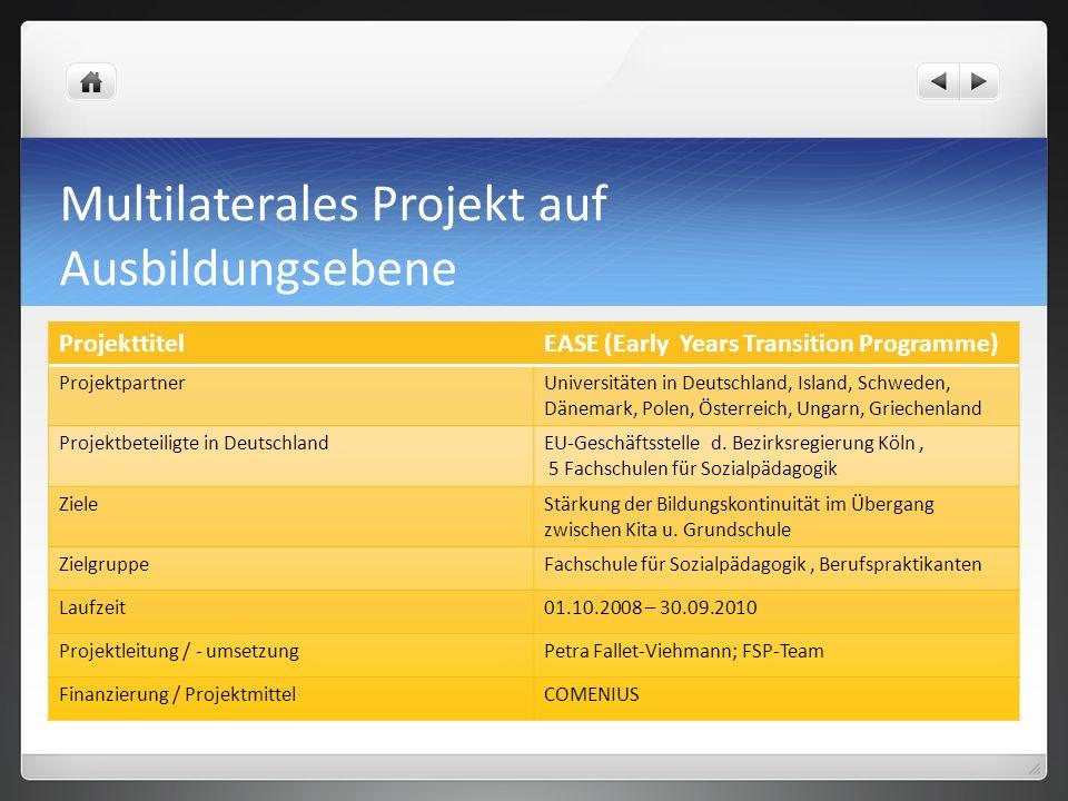 Multilaterales Projekt auf Ausbildungsebene