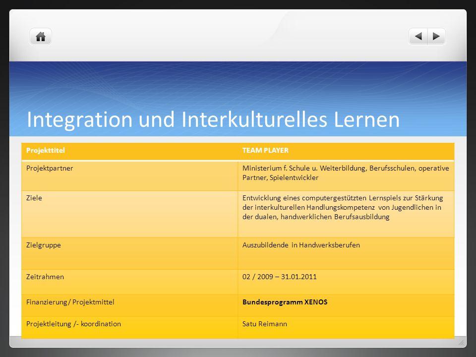 Integration und Interkulturelles Lernen