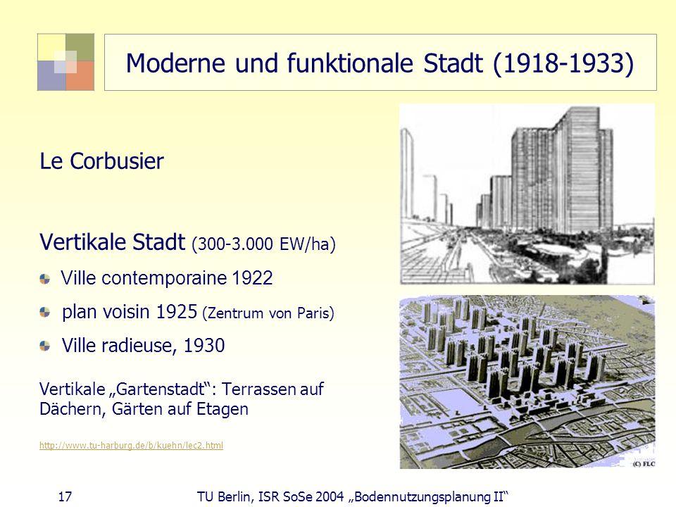 Moderne und funktionale Stadt (1918-1933)