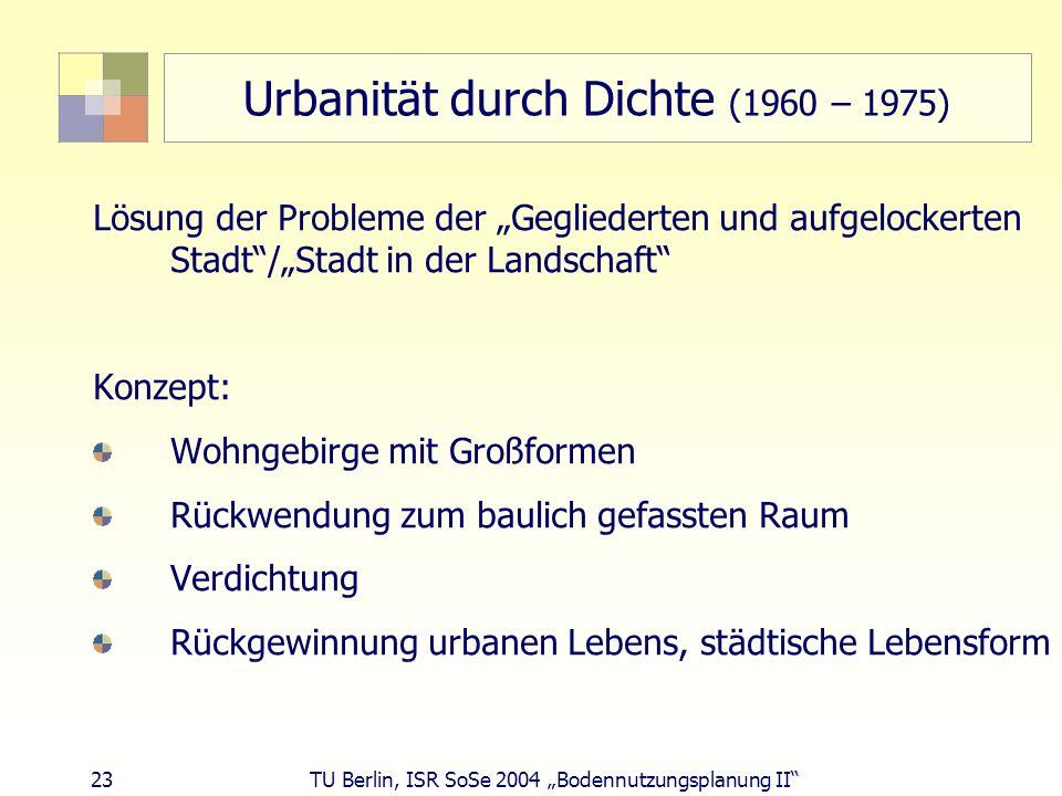 Urbanität durch Dichte (1960 – 1975)