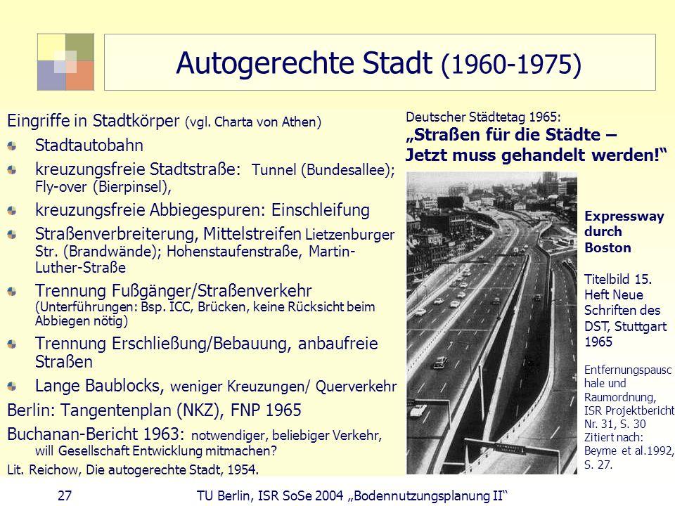 Autogerechte Stadt (1960-1975)