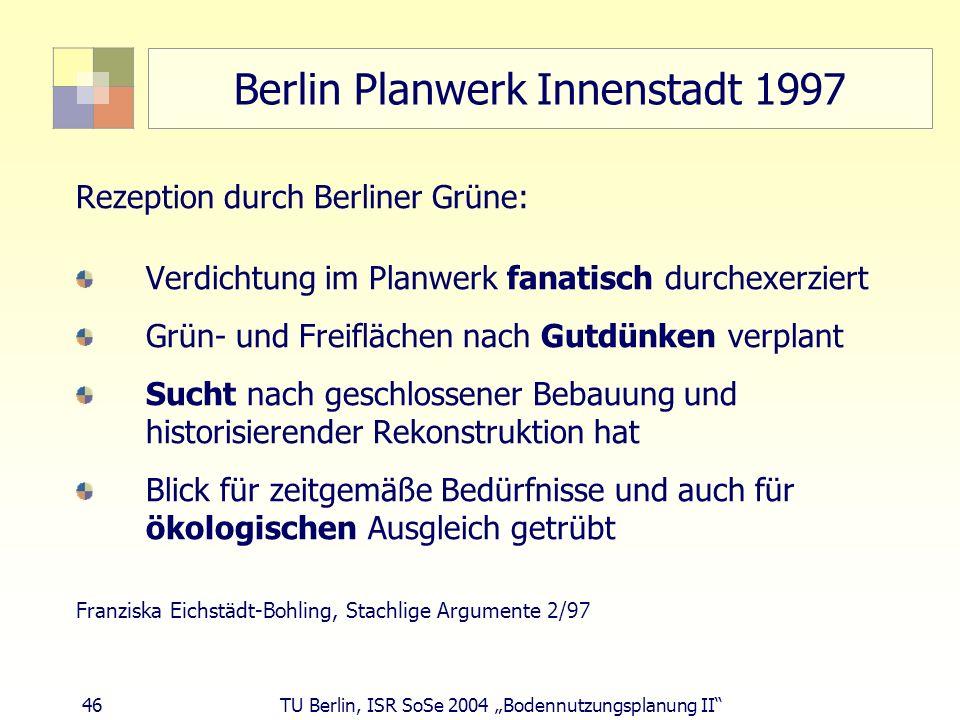 Berlin Planwerk Innenstadt 1997