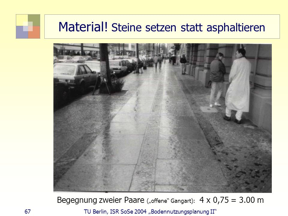 Material! Steine setzen statt asphaltieren