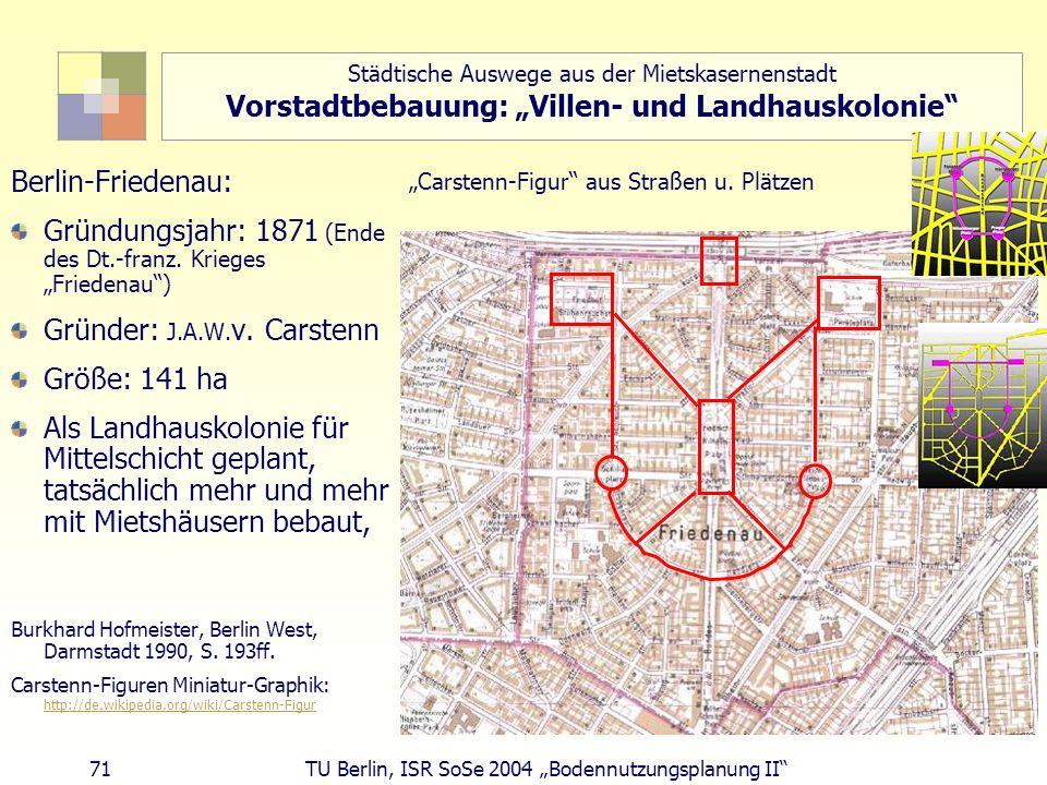 """Gründungsjahr: 1871 (Ende des Dt.-franz. Krieges """"Friedenau )"""