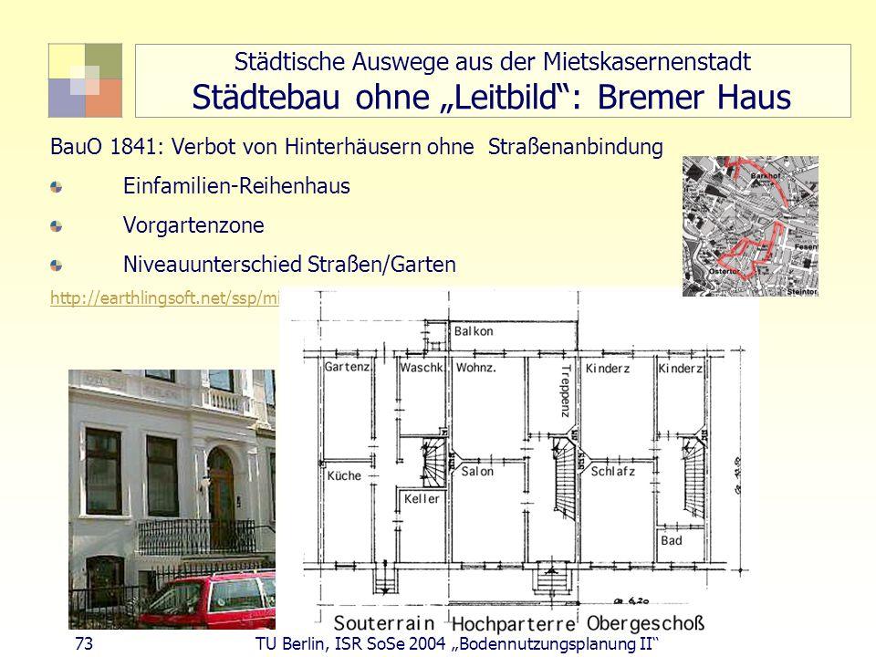 """Städtische Auswege aus der Mietskasernenstadt Städtebau ohne """"Leitbild : Bremer Haus"""