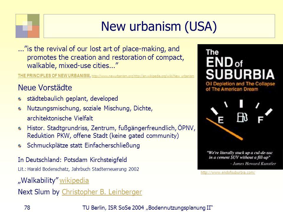 New urbanism (USA) Neue Vorstädte