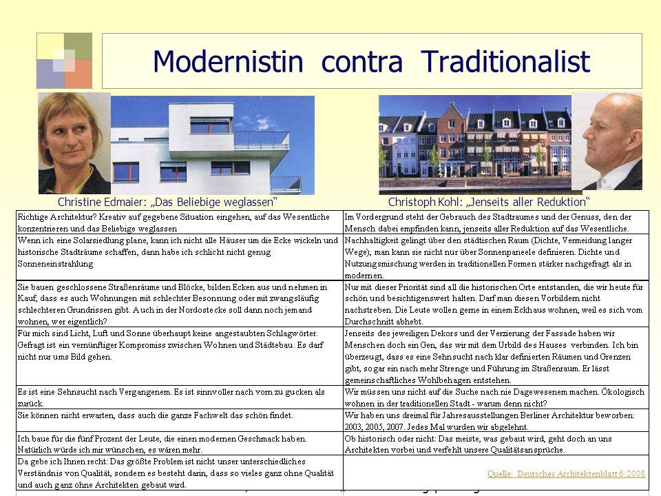 Modernistin contra Traditionalist