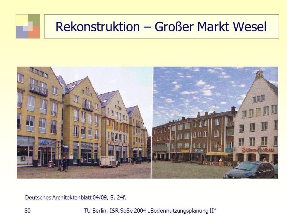 Rekonstruktion – Großer Markt Wesel