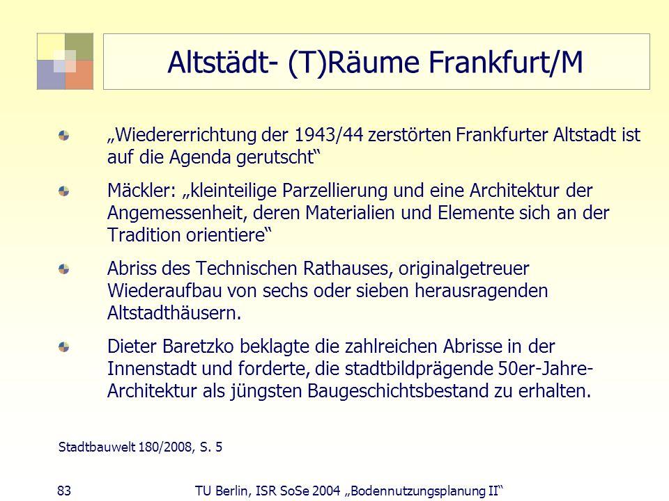 Altstädt- (T)Räume Frankfurt/M