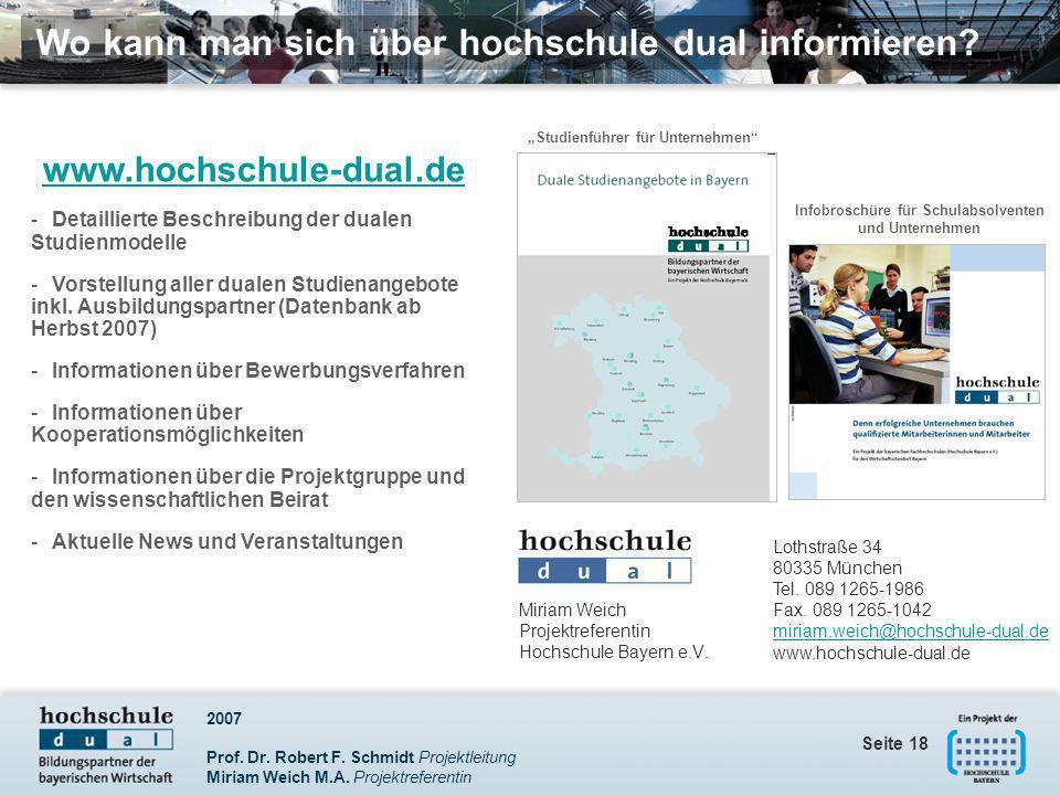 Infobroschüre für Schulabsolventen und Unternehmen