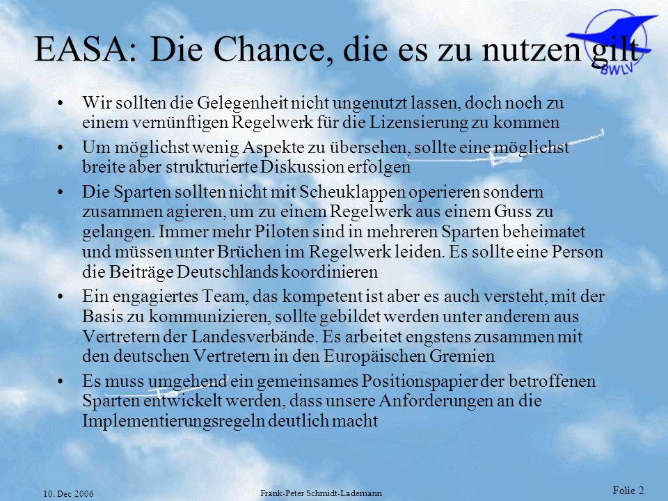 EASA: Die Chance, die es zu nutzen gilt