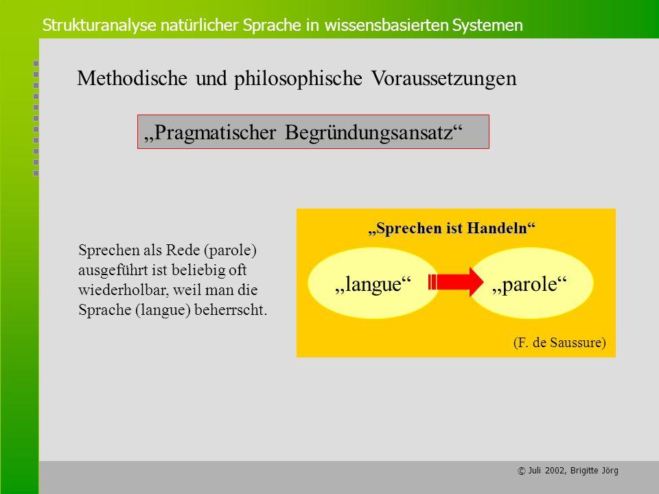 Methodische und philosophische Voraussetzungen