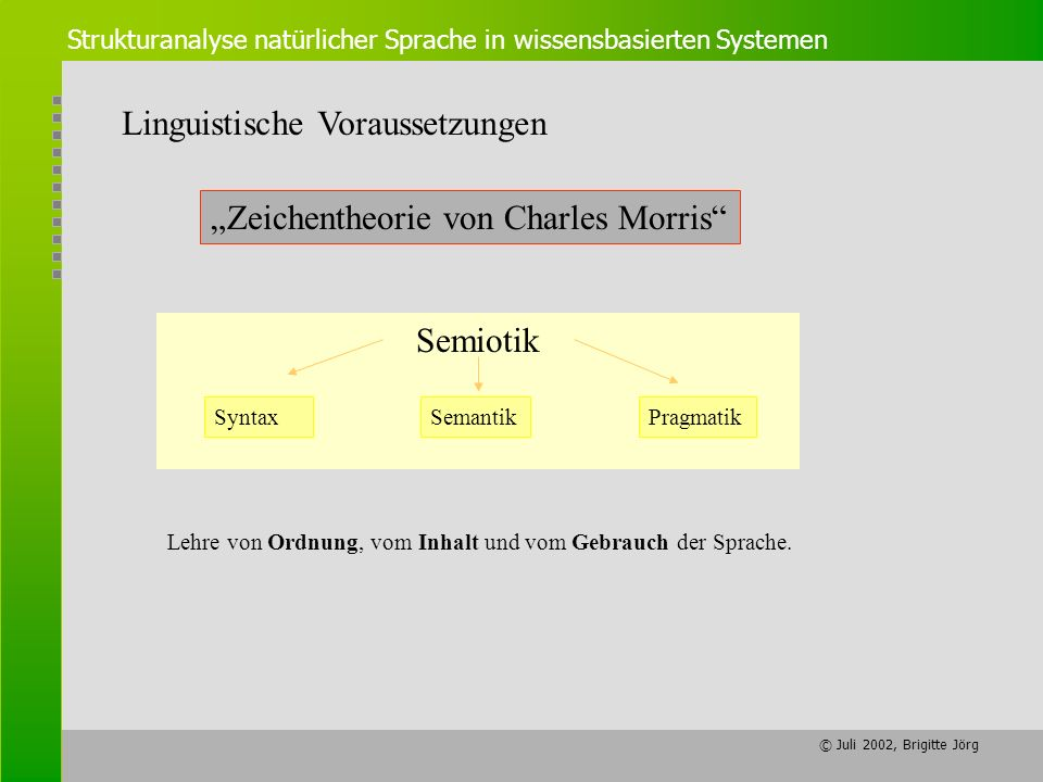 Linguistische Voraussetzungen