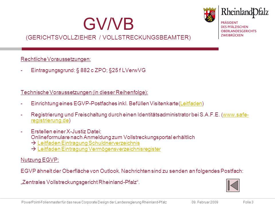 GV/VB (Gerichtsvollzieher / Vollstreckungsbeamter)