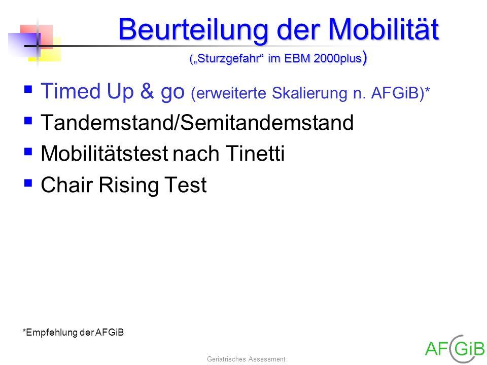 """Beurteilung der Mobilität (""""Sturzgefahr im EBM 2000plus)"""