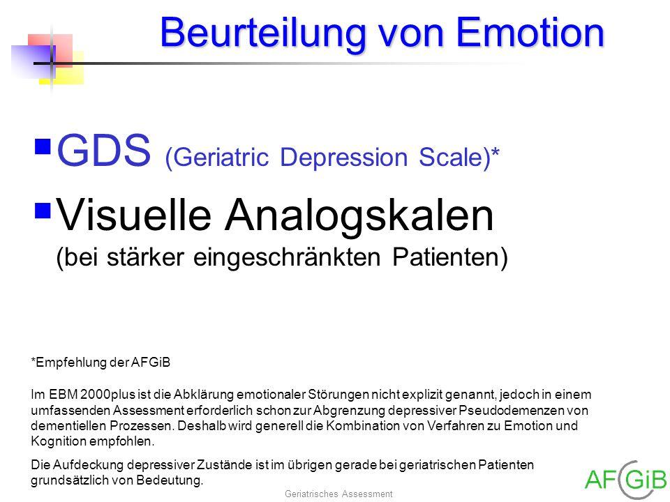 Beurteilung von Emotion
