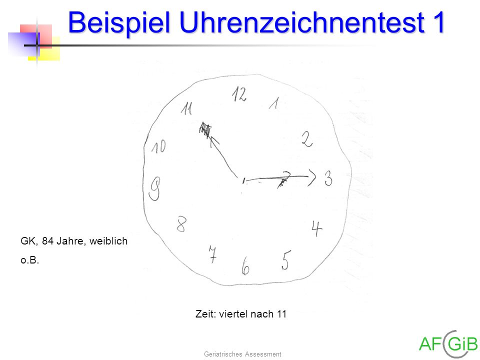 Beispiel Uhrenzeichnentest 1