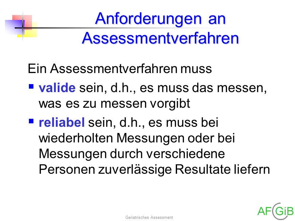 Anforderungen an Assessmentverfahren