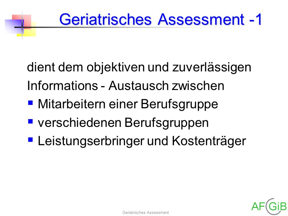 Geriatrisches Assessment -1