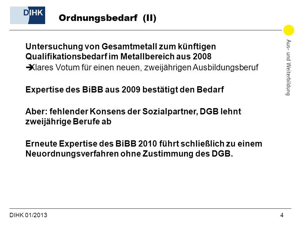 Ordnungsbedarf (II)Untersuchung von Gesamtmetall zum künftigen Qualifikationsbedarf im Metallbereich aus 2008.