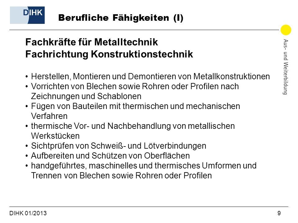 Fachkräfte für Metalltechnik Fachrichtung Konstruktionstechnik