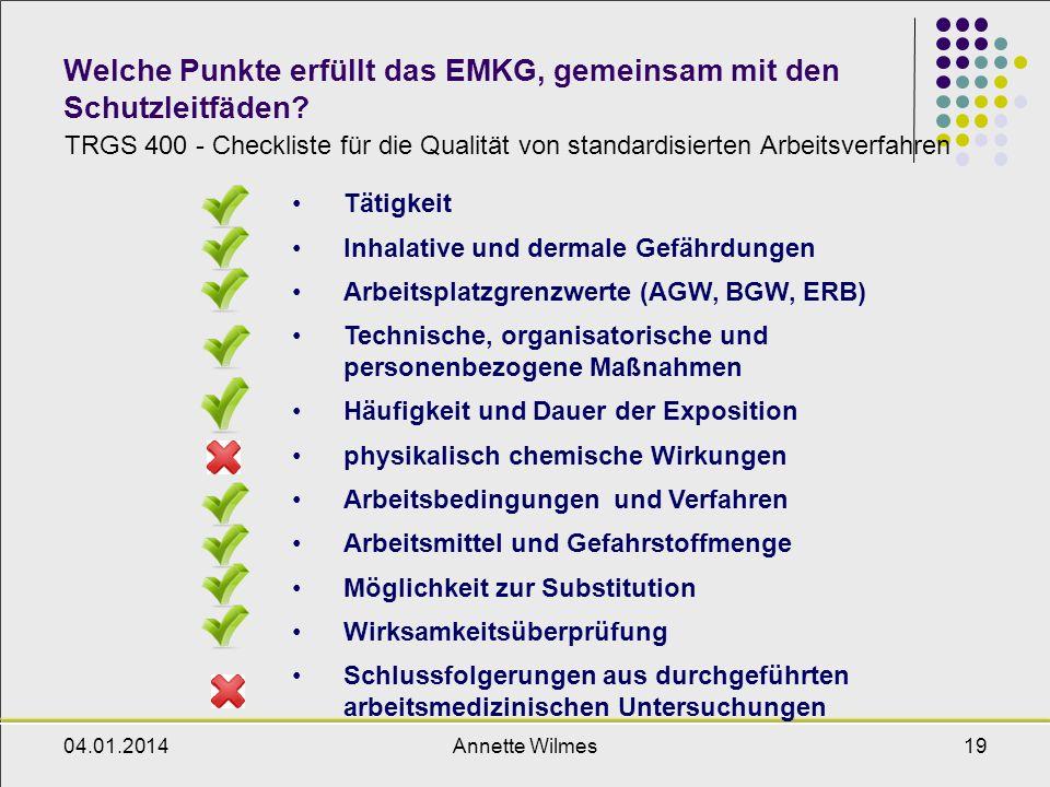 Welche Punkte erfüllt das EMKG, gemeinsam mit den Schutzleitfäden
