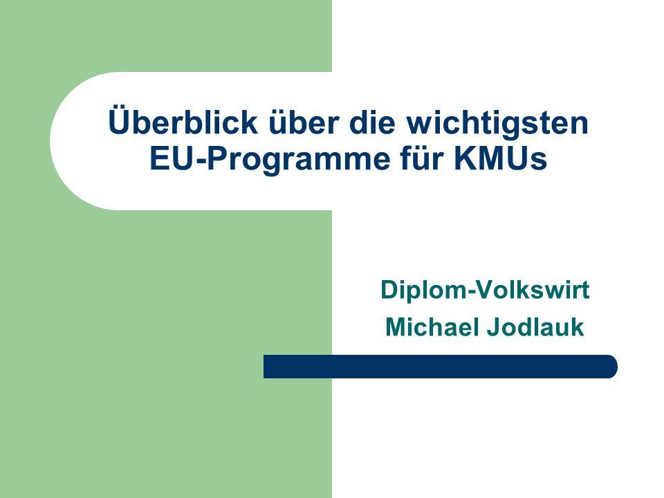 Überblick über die wichtigsten EU-Programme für KMUs