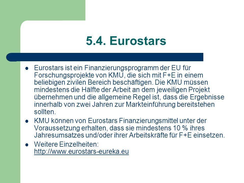 5.4. Eurostars