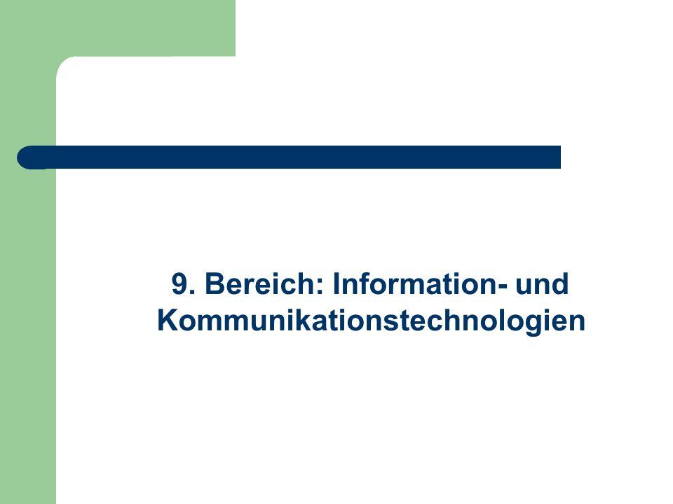 9. Bereich: Information- und