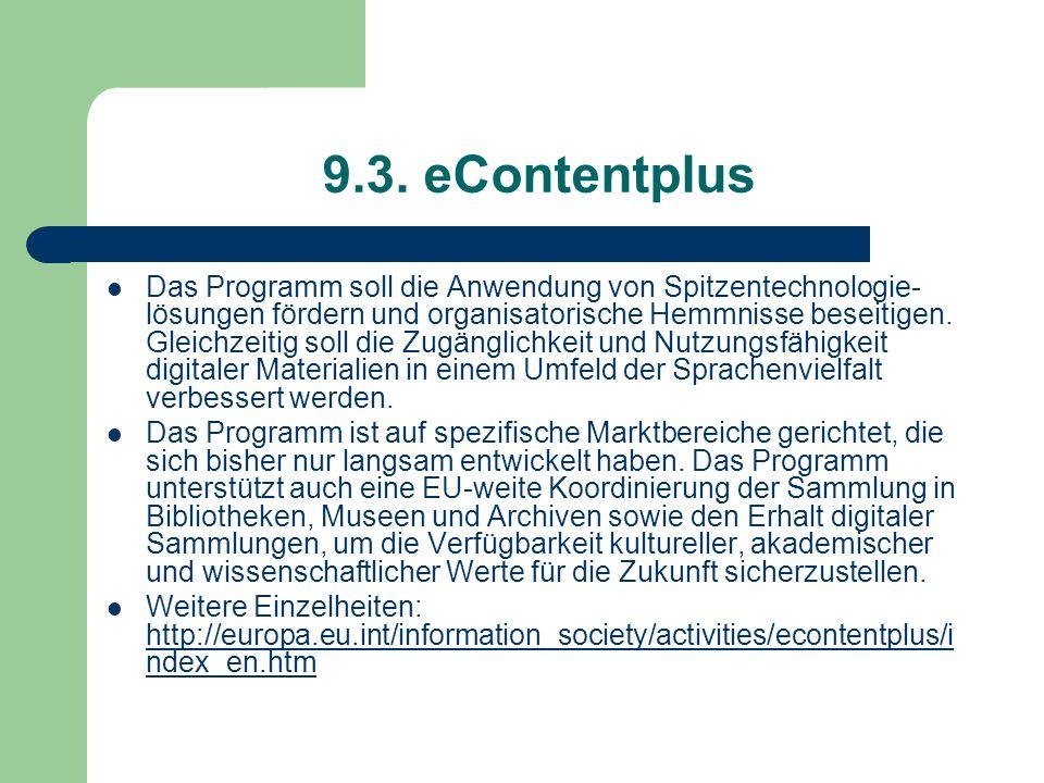 9.3. eContentplus
