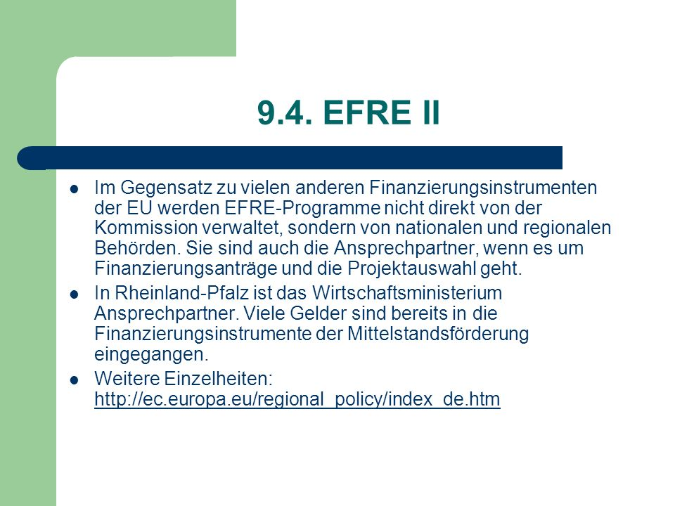 9.4. EFRE II