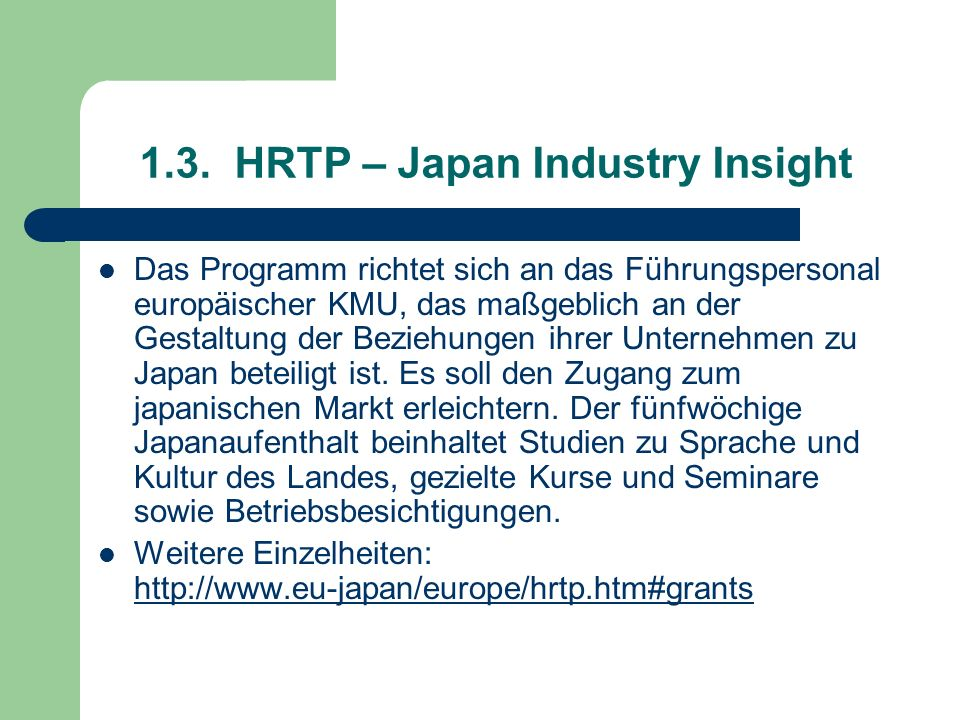 1.3. HRTP – Japan Industry Insight